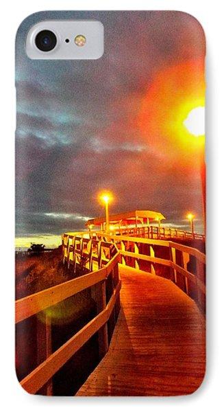 Walkway To Atlantic IPhone Case by Cindy Croal