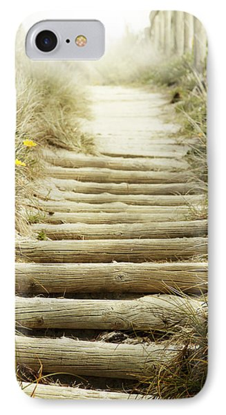 Walkway To Beach IPhone Case by Les Cunliffe