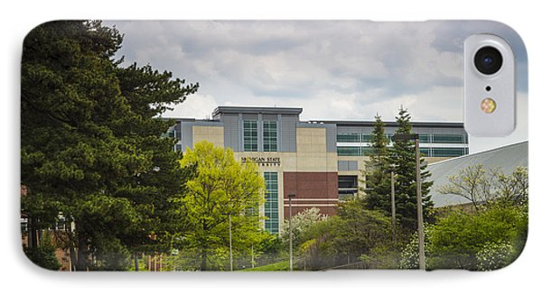 Walkway To Spartan Stadium IPhone Case by John McGraw