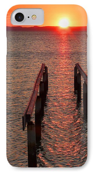 IPhone Case featuring the photograph Walkway To The Sun by Alan Socolik