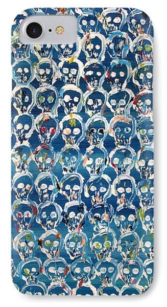 Wall Of Skulls IPhone Case by Fabrizio Cassetta