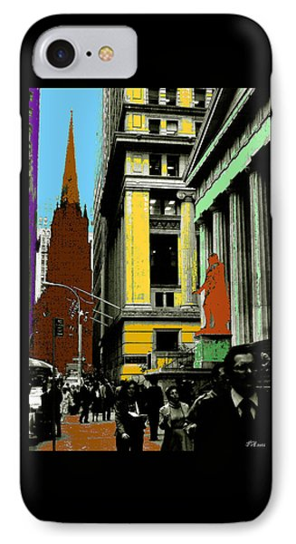 New York Pop Art - Blue Green Red Yellow IPhone Case by Art America Gallery Peter Potter