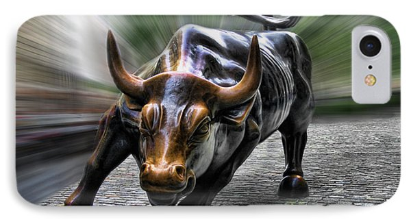 Wall Street Bull IPhone Case