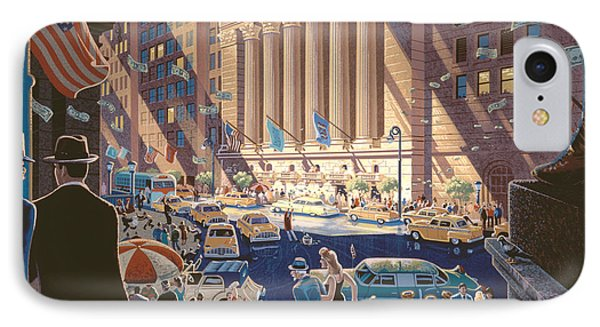 Wall Street IPhone Case by Michael Young