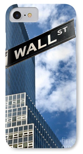 Wall Street Street Sign New York City Phone Case by Amy Cicconi