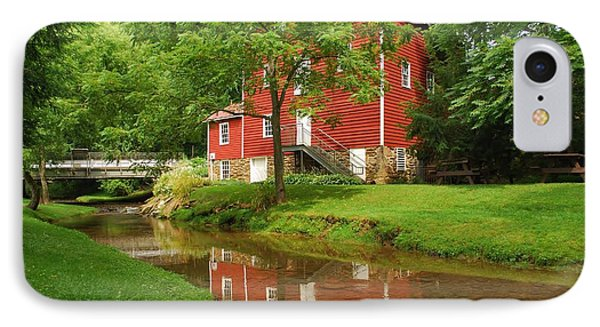 IPhone Case featuring the photograph Wallace Cross Grist Mill Reflections by Bob Sample