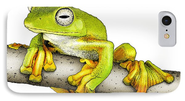 Wallaces Flying Frog IPhone Case by Roger Hall