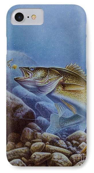 Walleye And Lindy Phone Case by Jon Q Wright