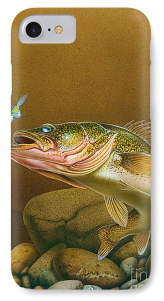 Walleye And Spinner Jig Phone Case by Jon Q Wright