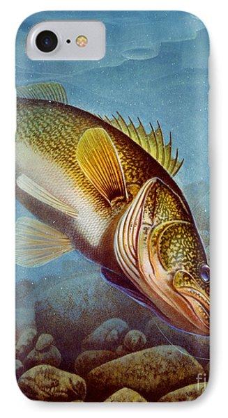 Walleye Ice Fishing Phone Case by Jon Q Wright