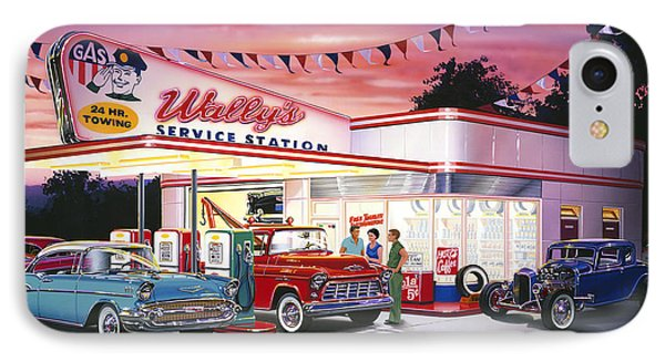 Wallys Service Station IPhone Case by Bruce Kaiser