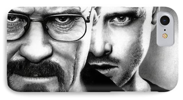 Walt And Jesse - Breaking Bad IPhone Case by Rick Fortson