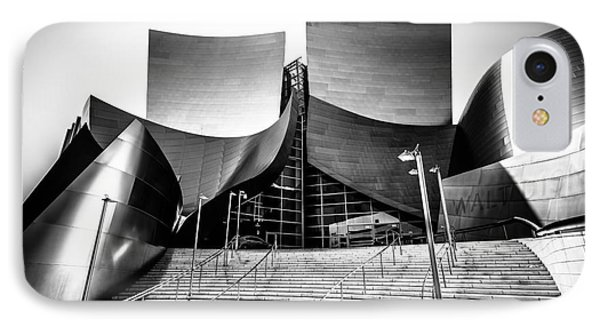 Walt Disney Concert Hall In Black And White Phone Case by Paul Velgos