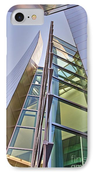 Walt Disney Concert Hall Vertical Exterior Building Frank Gehry Architect 6 Phone Case by David Zanzinger
