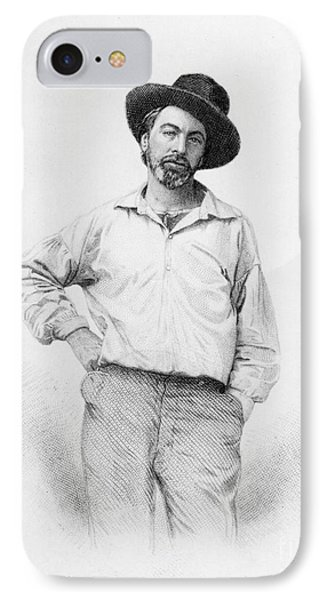 Walt Whitman Frontispiece To Leaves Of Grass IPhone Case by American School