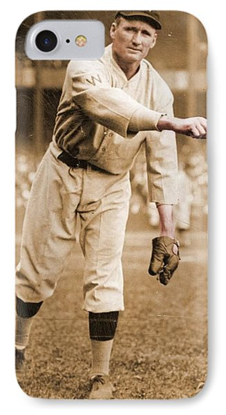 Walter Johnson Poster IPhone Case by Gianfranco Weiss