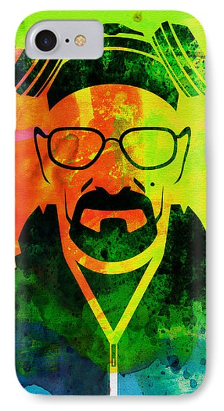Walter Watercolor IPhone Case by Naxart Studio