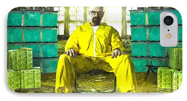 Walter White As Heisenberg Painting IPhone Case by Gianfranco Weiss