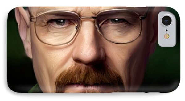 Walter White - Color IPhone Case by Paul Tagliamonte
