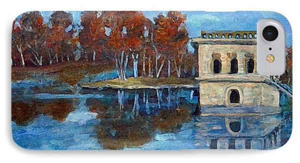 IPhone Case featuring the painting Waltham Reservoir by Rita Brown