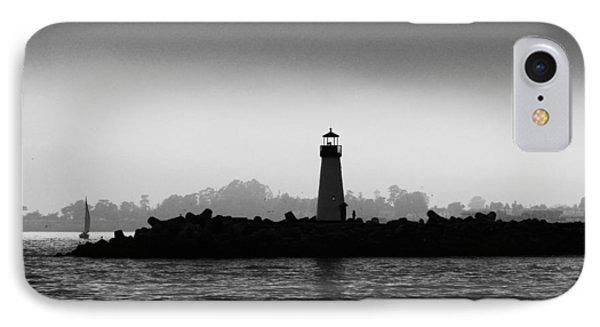 Walton Lighthouse Bw IPhone Case by Deana Glenz