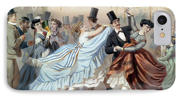 Waltz At The Bal Mabille Avenue Montaigne Paris IPhone Case by Charles Vernier