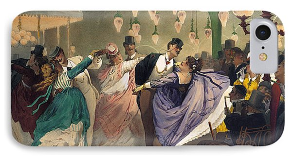 Waltz At The Bal Mabille  IPhone Case by Philippe Jacques Linder