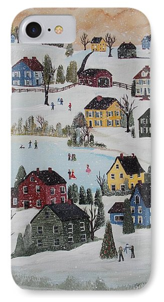 Waltzing Snow IPhone Case by Virginia Coyle