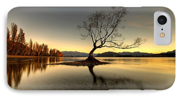 Wanaka - That Tree 1 IPhone Case by Brad Grove