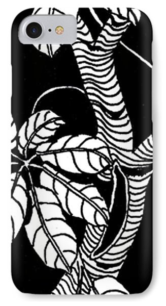 Wandering Leaves Octopus Tree Design Phone Case by Mukta Gupta