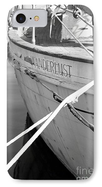 Wanderlust Black And White Phone Case by Amanda Barcon