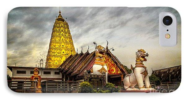 Wang Wiwekaram Temple IPhone Case by Adrian Evans