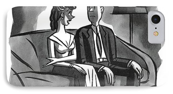 Want To Sit On This Side IPhone Case by Peter Arno