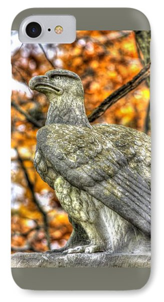 IPhone Case featuring the photograph War Eagles - 28th Massachusetts Volunteer Infantry Rose Woods The Wheatfield Fall-a Gettysburg by Michael Mazaika