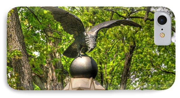 IPhone Case featuring the photograph War Eagles - 29th Pennsylvania Infantry Slocum Avenue South Culp's Hill Spring Gettysburg by Michael Mazaika