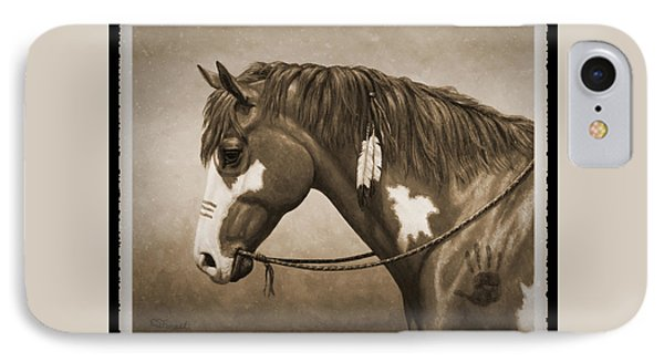 War Horse Old Photo Fx IPhone Case by Crista Forest