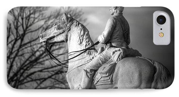 War Horses - 8th Pennsylvania Cavalry Regiment Pleasonton Avenue Sunset Autumn Gettysburg Phone Case by Michael Mazaika