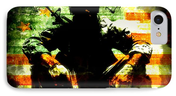 IPhone Case featuring the painting War Is Hell by Brian Reaves