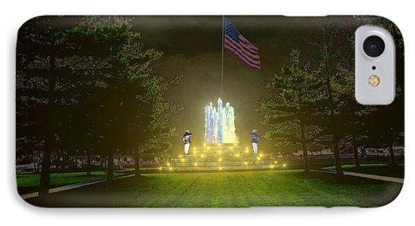 IPhone Case featuring the digital art War Memorial by Michael Rucker