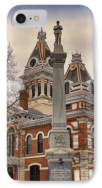 War Memorial Pontiac Il Phone Case by Thomas Woolworth