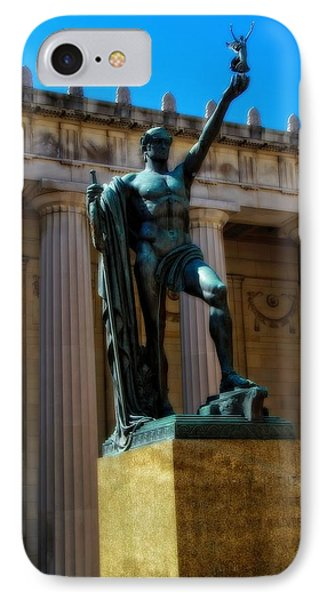 War Memorial Statue Youth In Nashville IPhone Case by Dan Sproul