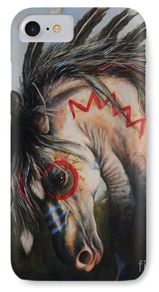 War Pony #3 Chieftan Phone Case by Amanda Hukill