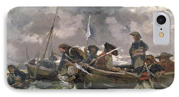 War Scene At Sea IPhone Case