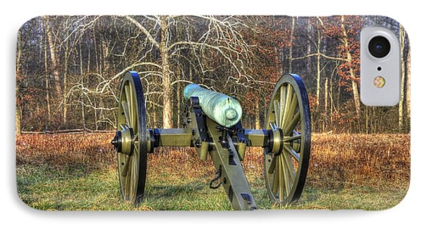 IPhone Case featuring the photograph War Thunder - 1st New York Light Artillery-a1 Battery D The Wheatfield Gettysburg by Michael Mazaika