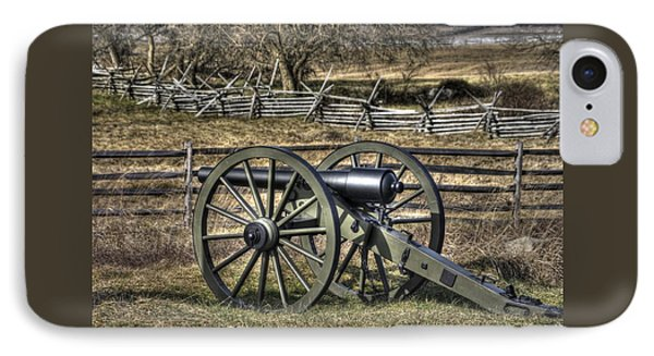 IPhone Case featuring the photograph War Thunder - 9th Michigan Btry 1st Michigan Light Artillery Battery I Hancock Ave Gettysburg by Michael Mazaika