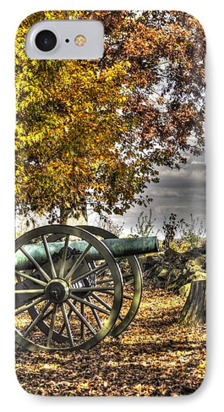 IPhone Case featuring the photograph War Thunder - Aonv The Purcell Artillery Mcgraw's Battery-a1 West Confederate Ave Gettysburg by Michael Mazaika
