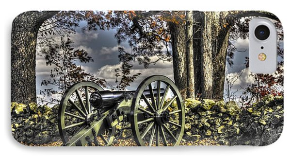 IPhone Case featuring the photograph War Thunder - Lane's Battalion Ross's Battery-a1 West Confederate Ave Gettysburg by Michael Mazaika