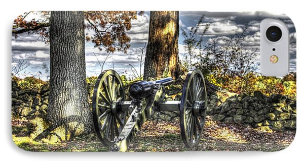 IPhone Case featuring the photograph War Thunder - Lane's Battalion Ross's Battery-b1 West Confederate Ave Gettysburg by Michael Mazaika
