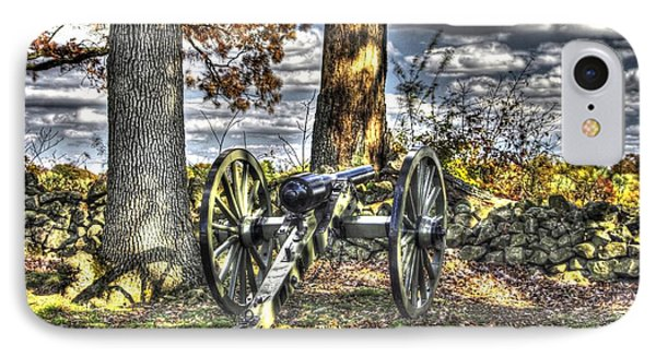 IPhone Case featuring the photograph War Thunder - Lane's Battalion Ross's Battery-b2 West Confederate Ave Gettysburg by Michael Mazaika