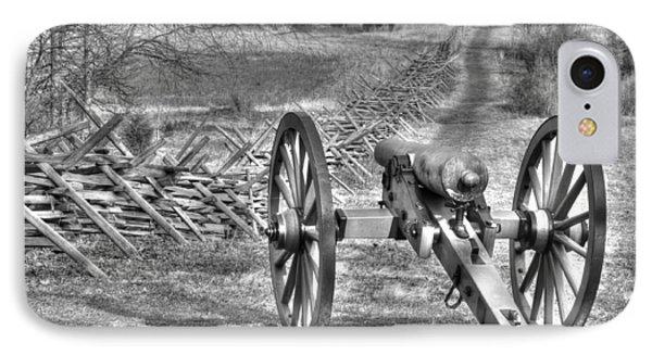 IPhone Case featuring the photograph War Thunder - Poague's Battalion Brooke's Va Battery West Confederate Avenue Gettysburg by Michael Mazaika